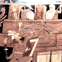 Detail from amphora
